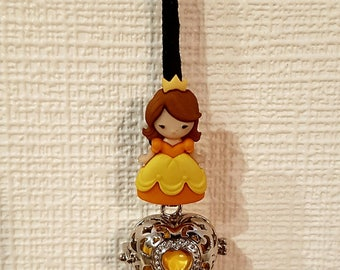 Necklace / necklace / pregnancy's Bola Mexican Princess beautiful yellow orange