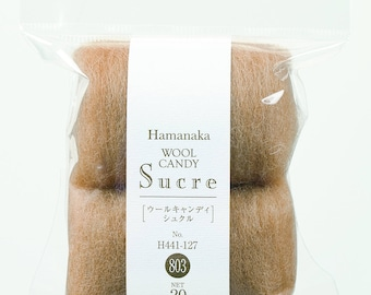 Hamanaka Needle Felting Wool Candy Sucre - Natural Blend H440-008 - Merino Wool 20g
