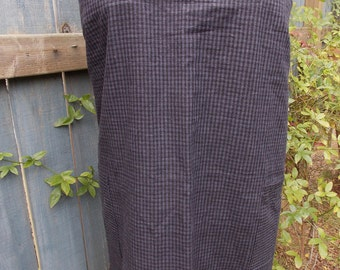 Linen Apron, up-cycled, one of a kind, cross-backed, smock, pinafore, Japanese apron