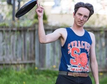 Syracuse Orange Vintage Tshirt Tank Top, Syracuse University, Syracuse Orangemen, Vintage Tank Top Men, 90s Clothing, Syracuse, Size Medium