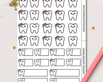 Dentist Planner Stickers | Doctors Planner Sticker | Dental Planner Sticker | Doctor Stickers