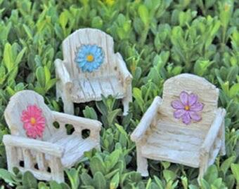 Daisy Chair (3 colors) - miniature enchanted fairy garden