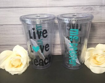 Personalized teacher tumbler, Teacher Gift, Teacher Appreciation week, Teacher week, Teacher Gift, Christmas Gift,End of year gift