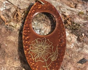 Vintage Jules Perrier Flower Pendant