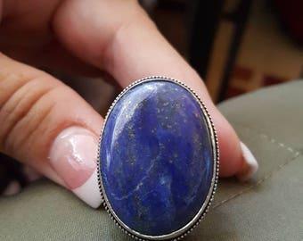 Lapis Lazuli Ring - size 8.75 !