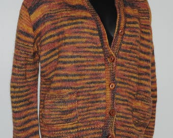 Vintage wool buttoned sweater Size 38 FR