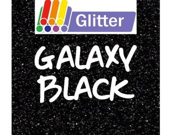 Siser Glitter Heat Transfer Vinyl - Iron On - HTV - Galaxy Black