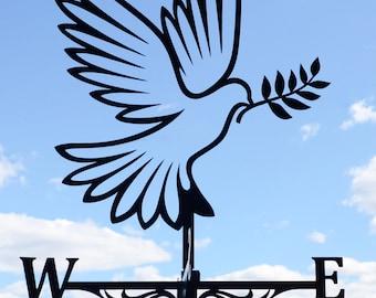 Dove Weathervane Roof Mount Weather Vane Bird Pigeon
