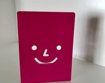 Pink Happy Face Bookends