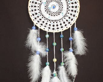 attrape r ves dream catcher decoration murale crochet. Black Bedroom Furniture Sets. Home Design Ideas