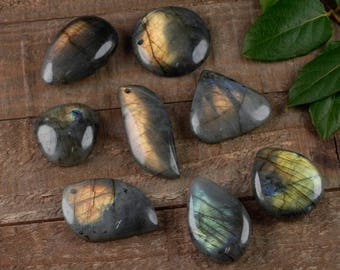 Freeform LABRADORITE Cabochon Pendant with Hole - Labradorite Stone, Labradorite Jewelry, Labradorite Necklace, Labradorite Pendant E0656