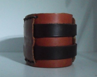strength leather arm bracelet