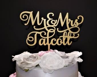 Personalized Wedding Cake topper. Custom Mr & Mrs Wedding Cake Topper Wood Wedding Cake topper Custom Wedding Cake Topper Custom Cake Topper