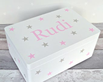 Memory Box - Baby Keepsake Box - Personalised Storage - Christening Box - Baby Memory Box - Wooden Keepsake Box - New Baby - First Birthday