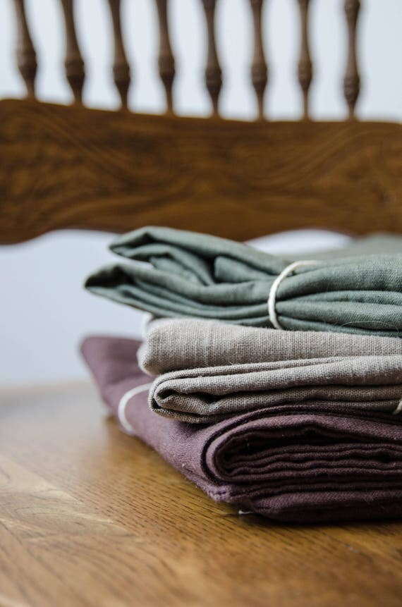 Set of 2 Purple Linen Pillowcases