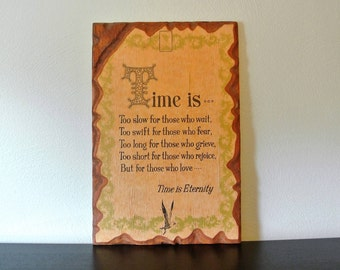 Time is Eternity Wall Hanging, Paper on Wood