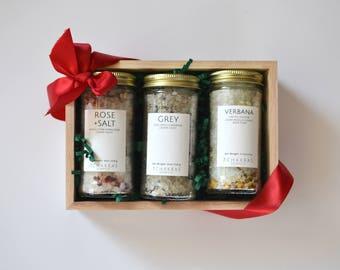 Bath Salts Gift Set, Bath Salts Sampler