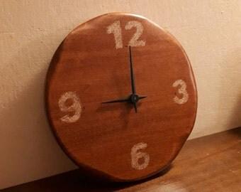 Wooden Wall Clock •  Mahogany Essence