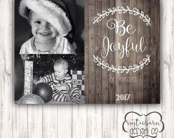 Rustic Shiplap Christmas Photo Cards!-Custom Digital Christmas Cards-5x7 Custom Invitation- Digital Download/PRINTABLE