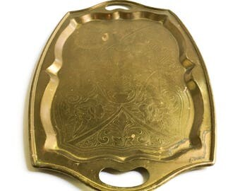 Vintage brass serving tray