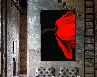 red flower oil painting home decor living present for her fine art red xmas free shipping in italy evaciuti