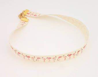 Flamingo Choker ~ Flamingo necklace, Flamingo jewelry, Flamingo jewellery, Flamingo gifts, Summer choker, Tropical necklace, Pink flamingo