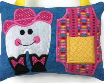 Cowgirl Tooth Fairy Pillow - Tooth Fairy Pillow Girls - Lost Tooth