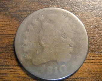 Scarce 1810 Half Cent - Very Early Coin!  #619