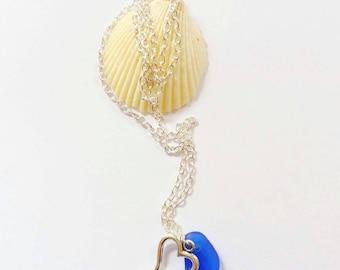Irish Sea Glass Necklace Sea Glass Jewelry Mermaid Jewellry Beach Glass Necklace  Beach Wedding Jewelry Bridesmaid Necklace Sea Glass Pedant