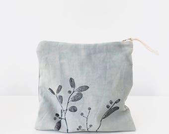 Eco bag, Sock knitting bag, Organic project bag knitting, Crochet bag, Toiletry bag, Cosmetics pouch, Makeup bag, Organiser, Plant dyed