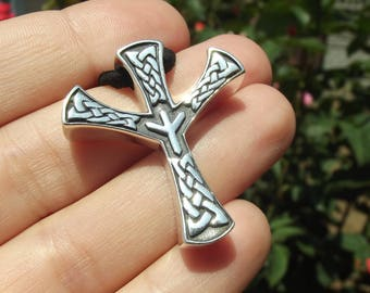Algiz Rune Pendant, Viking jewelry, Celtic jewelry, Elhaz, Amulet, Nordic, Norse runes, Pagan, Protection talisman, Futhark, Occult jewelry