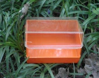 Vintage Ryvita box, retro orange container, 1960's kitchenware