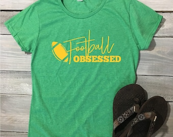 Football Obsessed Shirt, Football Tee, Game Day Shirt, Football Shirt, Sunday Funday, Football, Funny Football Shirt