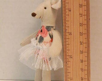 Miniature Mouse (Rifle Paper Co. Rosa in Peach Floral Fabric)