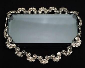 Mid Century Modernist Signed Gerardo Lopez Taxco, Mexico .980 Silver Necklace
