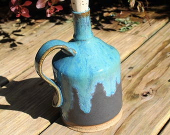 16 oz Wheel Thrown Stoneware Bottle