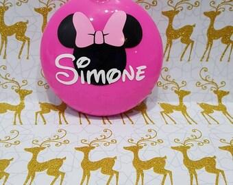Disney ornament, Minnie mouse ornament, Minnie Mouse inspired ornament,  Personalized ornament, Minnie ornament, Minnie mouse, Minnie bow