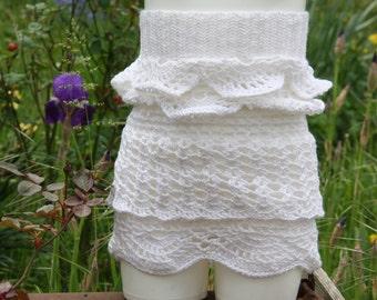 Skirt white girl from 4 to 5 years crochet