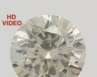 2.20 MM 0.042 Ct Natural Loose Diamond Cut Round Shape I Color SI2 Clarity N4645
