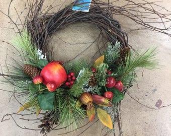 Winter Apples Wreath