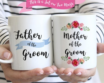 Wedding Gifts for Parents of Bride and Groom, Parents of the Groom Mugs, Mother and Father of the Groom Gifts
