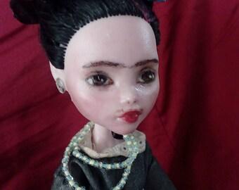 Frida Kahlo, Monster High Custom Ooak