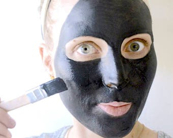 Purified Complexion Charcoal & Clay Face Mask Powder~Acne, Detoxifying, Redness, Healing, Bentonite, Tumeric, White WIllow Bark, Collagen