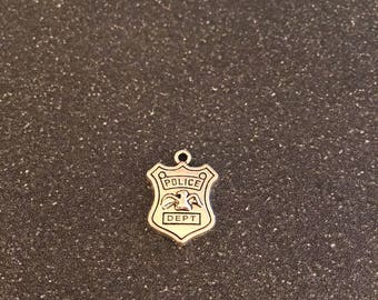 Police badge charm, Police shield charm