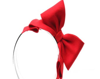 Snow White Headband, Headbands for Girls, Red Headbands, Gifts for Girls