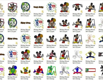 Disney's Mickey Mouse Embroidery Design Set 3