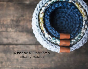 Crochet pattern // Nesting Bowls // Instand Download