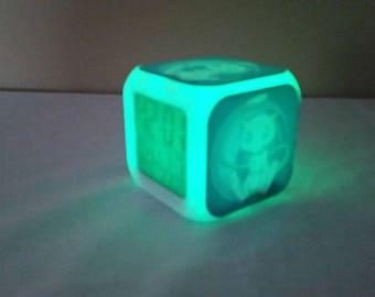 Mew Pokemon Go LED Light Up Alarm Clock / Calender / Thermometer