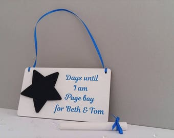 Personalised Page boy sign, Page boy proposal, Pageboy gift, will you be my Page boy gift, will you be our Page boy, Pageboy keepsake