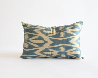 12x20 inch silk ikat pillow cover